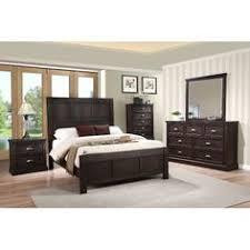 Vintage Dark Brown Casual 6 Piece Cal King Bedroom Set