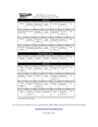 Free Insanity Workout Schedule Pdf Insanity Workout