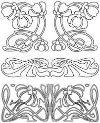 Eps Ai Ai Jpg Dd Art Nouveau Design Art Nouveau Pattern