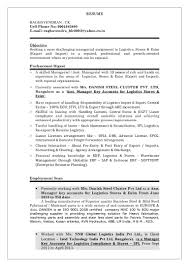 Import Export Manager Resume | Resume For Study