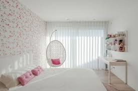 white girl bedroom furniture. Cool White Teenage Girl Bedroom With Modern Floral Wallpaper And Desk Also Hanging Chair Furniture T
