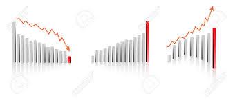 profit loss graph vector 3d business profit loss graph or chart