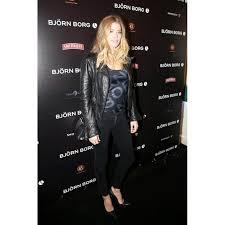 doutzen kroes leather motorcycle jacket for women