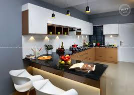 Small Kitchen Design With Breakfast Counter U Shape Modular Kitchen Design With Integrated Breakfast