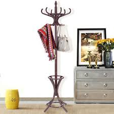 Coat Rack Hanger Stand Standing Wood Coat Rack eBay 62