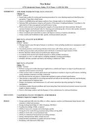 Ssrs Resume Samples SQL Data Analyst Resume Samples Velvet Jobs 20
