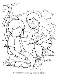 Jesus Loves The Little Children Coloring Page Galeries Lafayette
