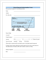 Direct Deposit Template Free Direct Deposit Form Template 5299
