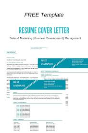 Free Resume Template Sales And Marketing Teal The Perfect Resume