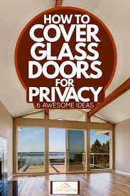 how to cover glass doors for privacy 6