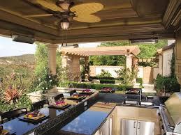 mediterranean outdoor kitchen patio