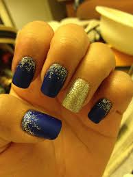Navy Blue Nail Designs For Prom Prom Nails But Red Maroon Instead Of Blue Nail Designs