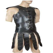 details about meval vest armor strip with hand clip larp sca armour genuine leather black