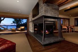 two rooms one fireplace | The introduction of heavy steal into the structure