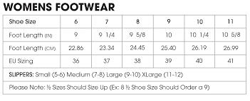 Womens Sneaker Size Chart Size Chart Muk Luks