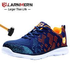 larnmern anti smashing steel toe safety lightweight