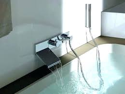 cool wall mounted bathtub faucets faucet wall mounted tub filler waterfall