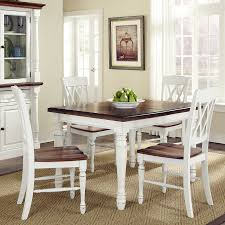 home styles monarch white oak 5 piece dining set with dining table