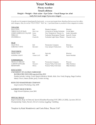 7 Actors Resume Template For Beginners Acover Letters