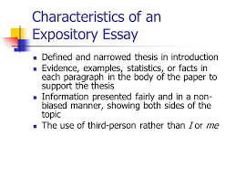 in class writing what is your expository essay topic look over  8 characteristics