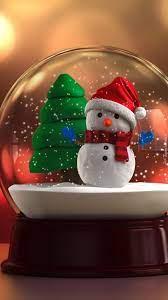 Christmas snow globes ...