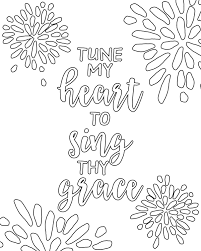 Free Printable Adult Coloring Pages Hymns Scripture Our