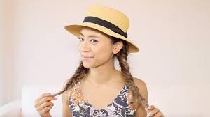 カンカン帽を被る時の髪型おしゃれで可愛いヘアアレンジを紹介