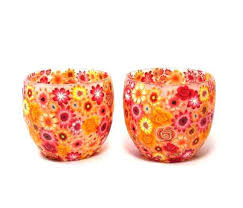 orange candle holders polymer clay candle holders polymer clay covered glass orange for clay candle holders