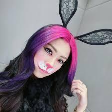 colorful rabbit makeup design