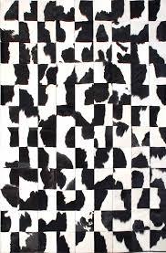 classic black white modern leather area rug jpg
