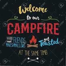 Bonfire T Shirt Design Stock Illustration