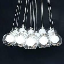 glass bubble pendant chandelier lights modern colorful orion 16 light