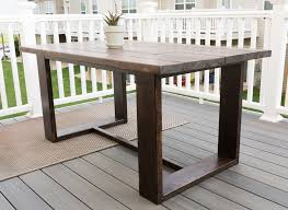 modern outdoor dining furniture. DIY Outdoor Dining Table Build Plans Modern Furniture F