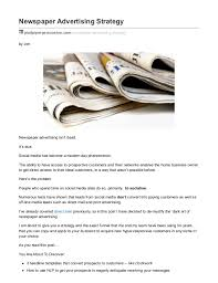 Newspaper Advertising Contract Template A Unique Newspaper Advertising Strategy To Find Customers Easily