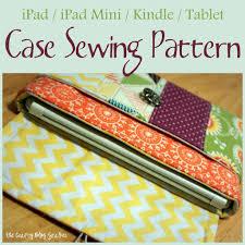 Fabric Case Sewing Pattern for iPad Mini or Kindle   Kindle case ... & Fabric Case Sewing Pattern for iPad Mini or Kindle Adamdwight.com