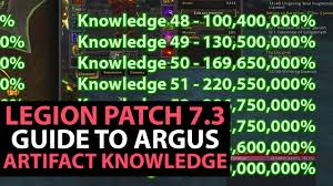Artifact Knowledge Level Chart World Of Warcraft Legion Patch 7 3 Guide Artifact Knowledge Changes Levels