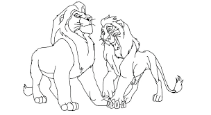 Scar And Zira Coloring Pages The Lion King Scar And Base By On Scar