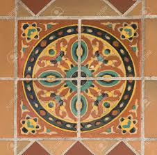 painted tile designs. Colorful Spanish Painted Tiles With Interesting Designs Stock Photo - 1478095 Tile L