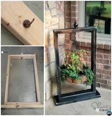 diy front porch ideas front porch hanging planter basket wood stand frame porch decorating ideas projects
