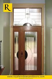 single glass front doors. Single Entry Door , Wood Finish, One Side Lite, Transom, Designer Glass Front Doors