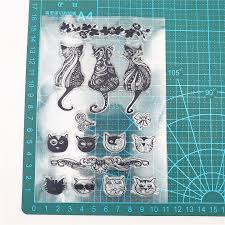 XPEN <b>cat transparent clear silicone</b> stamp / stamp DIY scrapbooking ...