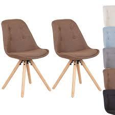 Elegante Esszimmerstühle Aus Leinen Kunststoff Holz Im Braun Bei Woltu