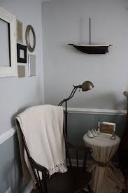 wall color idea darker below chair line and lighter above with white