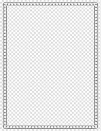 Template Microsoft Word Border Document Others Transparent