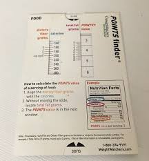 Weight Watchers Turnaround Program Points Chart Weight Watchers Turnaround Points Booster Slide Calculator
