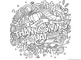 Small Picture Thanksgiving Doodle Coloring Pages 1111