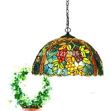 antique stained glass hanging light fixtures lights shade vintage lamp staine