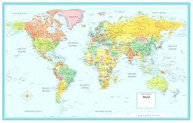 world map wall poster large world map world map wall poster rand world m series large