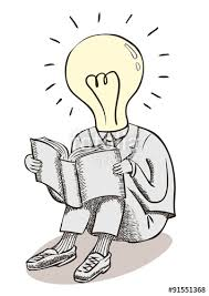 light bulb moment man brain power and great ideas a conceptual line drawing with