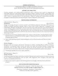 Resume for textile industry